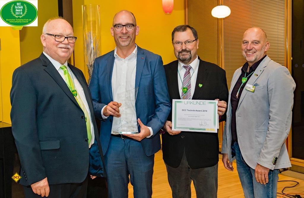 Sicherheitstechnik belohnt dcc technik award 2018 geht an al ko deutsches caravaning institut for Sicherheitstechnik leipzig