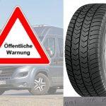 Das Kraftfahrt-Bundesamt (KBA) warnt vor Laufflächenablösungen an Van-Reifen