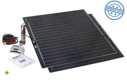 Speziell für Campingbusse mit Aufstelldach hat Büttner das superflache Solarmodul Flat Light im Programm. (Foto: Werk)