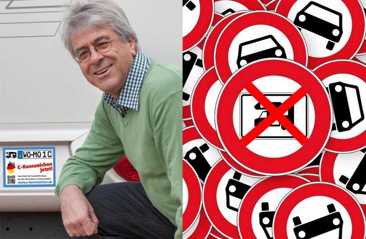 Wolfgang Baumeister ist C-Kennzeichen-Unterstützer der ersten Stunde, war Präsident der Reisemobil Union e.V. und reist seit 1982 mit seinen Reisemobilen durch Europa. (Foto: Baumeister / D.C.I.)