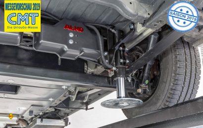Das vollautomatische Nivelliersystem Al-Ko HY4 ist in Europa ab April 2019 auch für die neue Modellgeneration des Mercedes-Benz Sprinter (VS 30) verfügbar – im ersten Schritt für den Sprinter mit Al-Ko Chassis und SLC-Chassis. (Foto: Al-Ko)