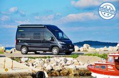 Mit der Einsteigerbaureihe Free bietet die Hymer-Kastewagensparte Hymecar kompakte Campingbusse in einem attraktiven Preissegment an. (Foto: det / D.C.I.)