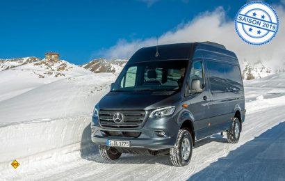 Der Mercedes-Benz Sprinter ist ab sofort auch in der werkseigenen 4x4-Version bestellbar. (Foto: Werk)