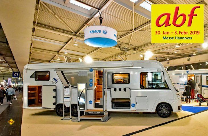 Auf dem Messegelände Hannover können sich die Besucher der abf 2019 im erweiterten Caravaning-Bereich von der kompletten Bandbreite der mobilen Freizeit überzeugen lassen. (Foto: Heckmann)