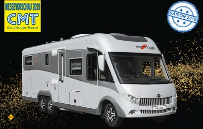 Zum 40. Firmenjubiläum bringt Carthago mit dem dem chic-e-line I 50 LE ein attraktives Sondermodell edition40 mit nach Stuttgart. (Foto: Werk)