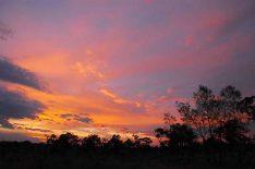 Bei den sensationellen Dämmerungsfarben im Outback kommt Kostya Abert regelmäßig erneut ins Schwärmen. (Foto: Abert; abenteuerosten.de)