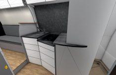 Besonderer Clou der Küche im FRANKIA FutureConcept: smarte Details und der spannende Mix aus natürlichen Materialien und edlen Oberflächen. (Foto: Frankia)