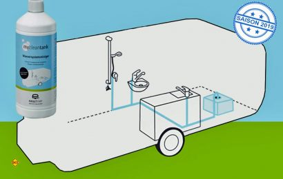 Mit Easydriver mycleantank von Reich wird das Frischwassersystem von Caravan und Reisemobil von Schutz befreit und wieder hygienisch sauber. (Foto: Werk)