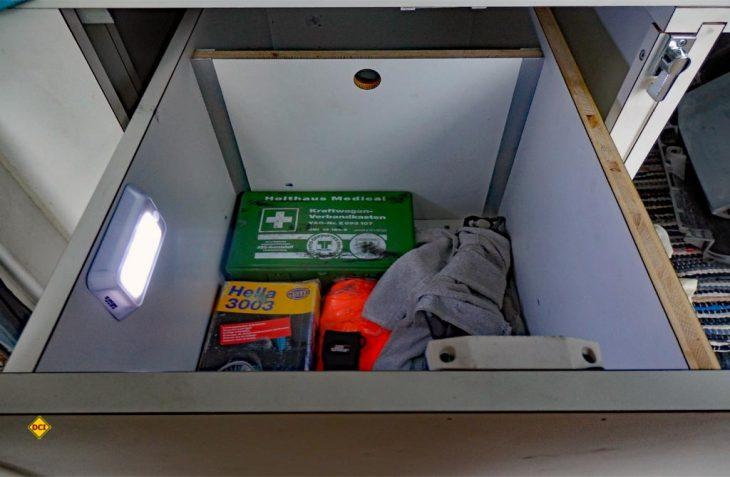 Das Pearl LED-Nachtlicht Lunartec kann einfach und flexibel installiert werden und bringt Sicherheit mit Dämmerungsswchalter und Bewegungsmelder. (Foto: det / D.C.I.)