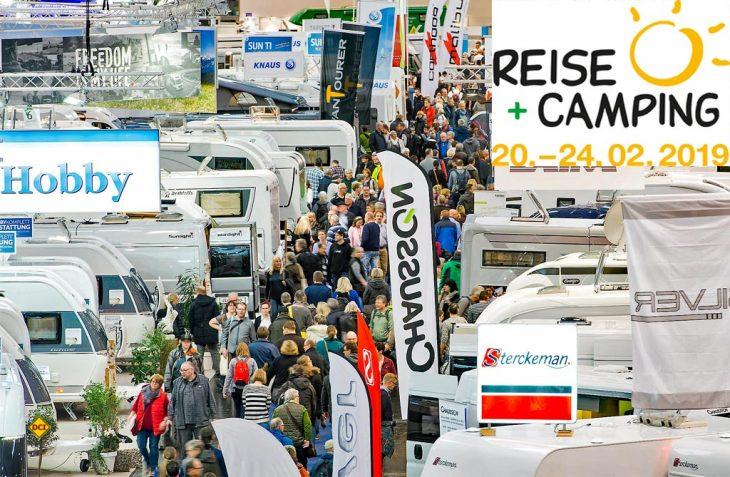 """Mehr Besucher, mehr Reichweite geplant: Die Messe """"Reise + Camping 2019"""" in Essen gilt als NRWs größte Freizeitmesse. (Foto: Messe Essen)"""