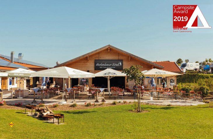 In der Kategorie Event-Gastronomie erreichte Vital Camping Bayerbach mit dem Familiengasthof Huckenhamer Stadl einen ersten Platz beim renommierten Campsite Award 2019. (Foto: Vital Camping)