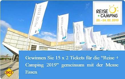 """Gewinnen Sie bei unseren Gewinnspiel 15 x 2 Tickets für die """"Reise+Caravanig 2019"""" mit der Messe Essen (Foto: Messe Essen; Rainer Schimm)"""