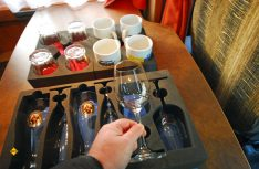So muss nicht auf Stil verzichtet werden: Gläser und Tassen sind in Styroporblocks sicher untergebracht. (Foto: det / D.C.I.)