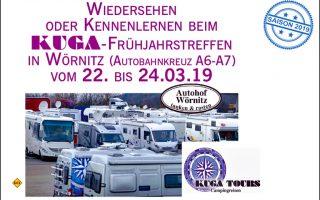 Der Womo-Reiseveranstalter Kuga-Tours lädt zum Informationstreffen 2019 auf den Autohof Wörnitz ein. (Foto: Kuga)