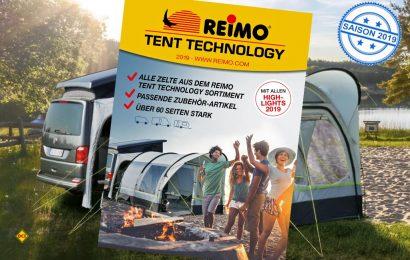 Der Zubehör-Spezialist Reimo hat für die Saison 2019 erstmals einen eigen Zelte-Katalog aufgelegt. (Foto: Reimo)