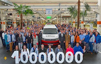 Tolles Jubiläum: 10000000 Fahrzeuge haben die Bänder von VW Nutzfahrzeuge in Hannover seit 1956 verlassen. (Foto: Werk)