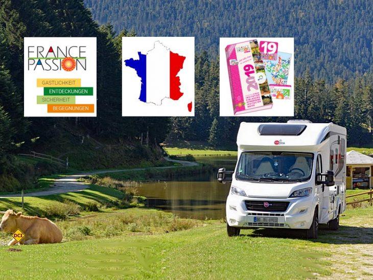 Über 2.000 Etappenziele mit mehr als 10.000 Reisemobil-Stellplätzen bietet France Passion 2019 wieder an. (Foto: det / D.C.I.) 2.000 Etappenziele mit mehr als 10.000 Reisemobil-Stellplätzen bietet France Passion 2019 wieder an. (Foto: France Passion)