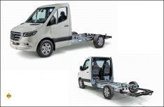 Für den Triebkopf des neuen Mercedes-Benz Sprinter hat Al-Ko jetzt auch ein Leichtbau-Chassis im Angebot. (Foto: Al-Ko)