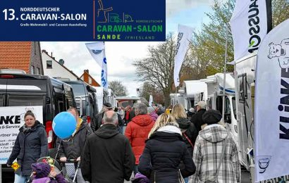 Schon eine Traditionsveranstaltung im hohen Norden: Der Norddeutsche Caravan-Salon in Sande findet zum 13. Mal statt und ist die größte Freiluftmesse rund um das Thema Caravaning im Raum Oldenburg / Friesland. (Foto: Caravan-Salon Sande)