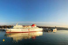 NEU: Ab sofort unterstützt die neue LNG-Gas-Fähre M/S Visborg den Verkehr von/nach Gotland.(Foto: Destination Gotland)