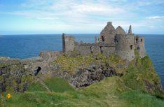 Sehenswerte Geschichte: Das mächtige Dunluce Castlean der Küste von Antrim. (Foto: det / D.C.I.)
