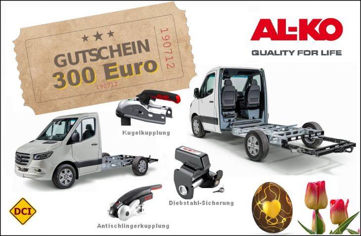 Eine schöne Überraschung nicht nur zur Osterzeit: Gemeinsam mit Al-Ko Tech verlosen wir einen 300-Euro-Gutschein. (Montage: tom / D.C.I.)