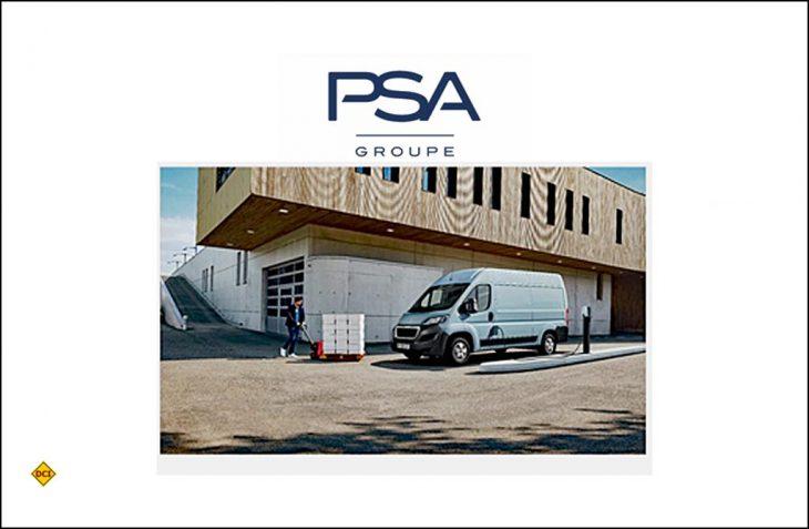 Die Groupe PSA hat auf der Messe Birmingham Commercial Vehicle Show einen Ausblick auf die elektrifizierten Modelle Peugeot Boxer Electric und Citroën Jumper Electric gegeben (Foto: Groupe PSA).