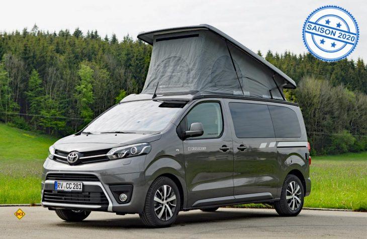 Crosscamp stellt mt dem Camper-Van auf Toyota-Basis einen kompakten, alltagstauglichen Freizeit-Van vor. (Foto: det / D.C.I.)
