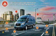 Den Ford-Ingenieuren ist es gelungen, das Eigengewicht des neuen Ford Transit zu reduzieren, auf diese Weise konnten die Nutzlast und die Betriebseffizienz erhöht werden. (Foto: Ford)