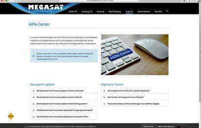 Megasat, der Spezialist für Satellitentechnik, hat seinen Kundenservice mit einem Online-Hilfe-Center erweitert. (Foto: Megasat)