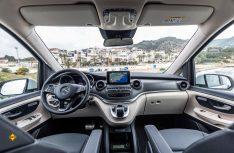 Das Cockpit in der Mercedes-Benz-typischen Designsprache. (Foto_ Mercedes-Benz Vans)