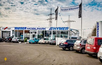 Moser Caravaning in Mainz-Hechtsheim ist Deutschlands erster Hymer-Händler und feiert 2019 sein 60-jähriges Firmenjubiläum. (Foto: Moser Caravaning)