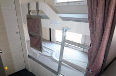 Das längs gestellte Etagenbett überzeugt mit großen Liegeflächen. (Foto: sis / D.C.I.)