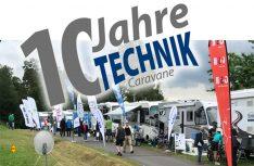 16 namhafte Zubehörhersteller präsentieren sich zum zehnten Mal in lockerer Atmospäre bei der Technik-Caravane 2019. (Foto: Technik-Caravane)