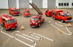 Historische Einsatzfahrzeuge von Volkswagen Nutzfahrzeuge (T1, T2, T3 und LT) werden auf Fehrmarn zu sehen sein. (Foto: VWN)