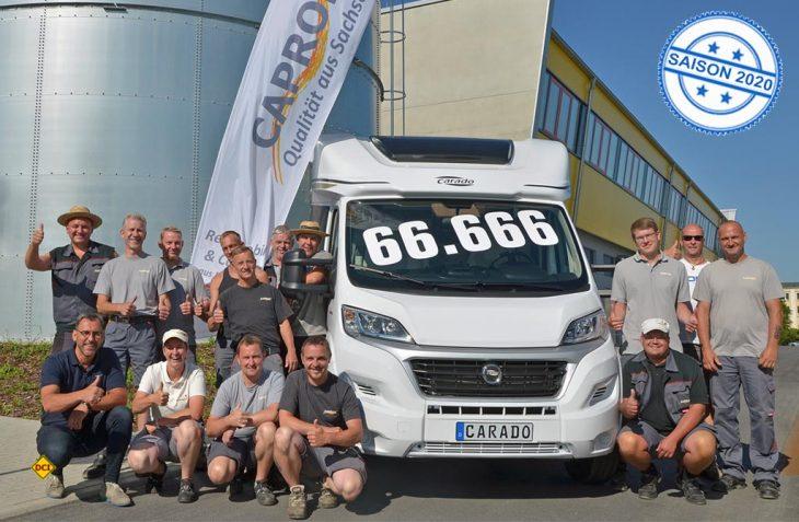 Ein guter Grund stolz zu sein: 66.666 Freizeitfahrzeuge haben die Produktionsbänder von Capron im sächsischen Neustadt verlassen. (Foto: Capron)