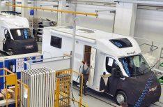 Das Reisemobilwerk Capron im sächsischen Neustadt gehörtz zu den modernsten Fertigungsstätten in Europa. (Foto: Capron)