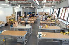 Die moderne Lehrwerkstatt im Werk Capron. (Foto: Capron)