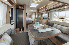 Die Innneräume der Fendt Caravans wurde bei allen Baureihen optimiert und wertiger gestaltetet. (Foto: Werk)