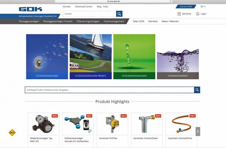 Bei der neu gestalteten GOK-Website stand neben der Überarbeitung des Designs vor allem die Anwenderfreundlichkeit mit neuer Suchfunktion im Mittelpunkt. (Foto: GOK)