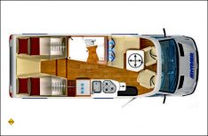 Grundriss Hymer B-Klasse Modern Comfort T 580. (Grafik: Werk)