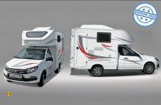 Auf Basis de Kleinwagen Granta FL baut Lada eine kleines Wohnmobil im Pick-Up-Format für zwei Personen. (Foto: Sa ruljom / AvtoVAZ)