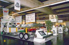 Medsestand auf dem Caravan Salon 1985 in Essen. (Foto: Linnepe)