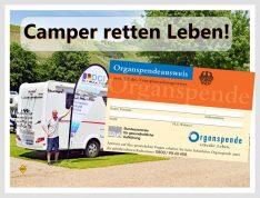 Camper retten Leben! Das D.C.I. bittet alle Reisemobilisten und Freunde der mobilen Freizeit über das Thema Organspende nachzudenken. (Montage: tom / DCI)