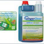 Öko ist Trumpf bei CamperClean mit Sanitärzusatz Mikro Green