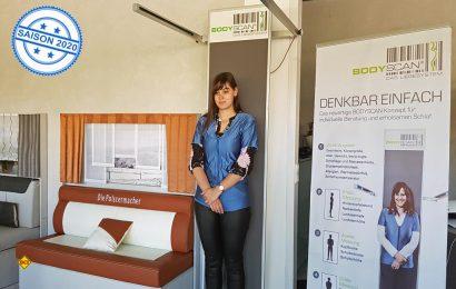 Mit dem Body-Scanner ermitteln die Profis von G+S, Die Polstermacher, passgenau den richtigen Typ von Matratze und der Bettkonstellation. (Foto: G+S)