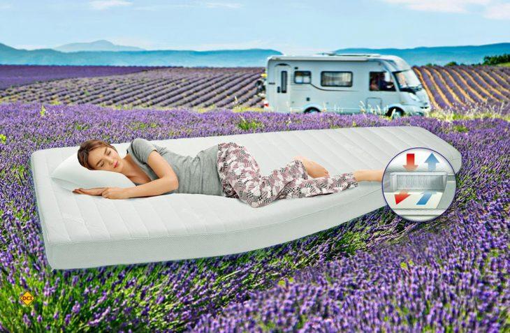 Die Matratzenmanufaktur Gisatex aus Reutlinbgen hat mit der Gismed Premium eine Fünf-Funktions-Zonen-Matratze für Wohnmobil und Caravan im Programm. (Foto: Werk)