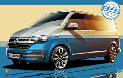 Erste Skizzen: So sieht der Volkswagen California T6.1 auf dem Block des Designer von aussen aus. (Grafik: Volkswagen Nutzfahrzeuge)