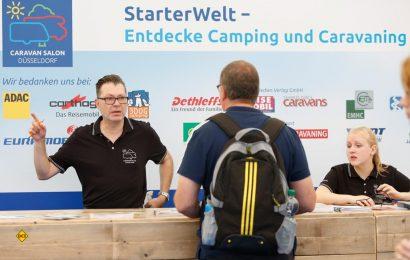 Die StarterWelt hilft herstellerneutral allen Neueinsteigern, sich umfassend über das Thema Caravaning auf dem Caravan Salon 2019 in Düsseldorf zu informieren. (Foto: Caravan Salon)