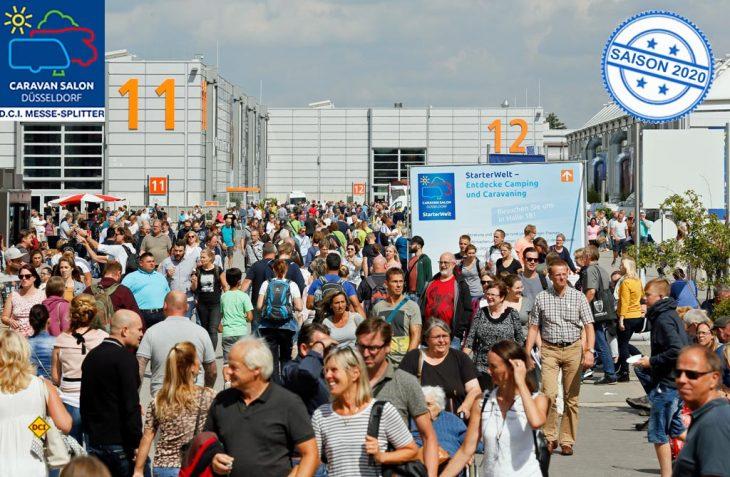 Mehr Aussteller - mehr Fläche: Der 58. Caravan Salon 2019 in Düsseldorf ist eröffnet. (Foto: Caravan Salon)